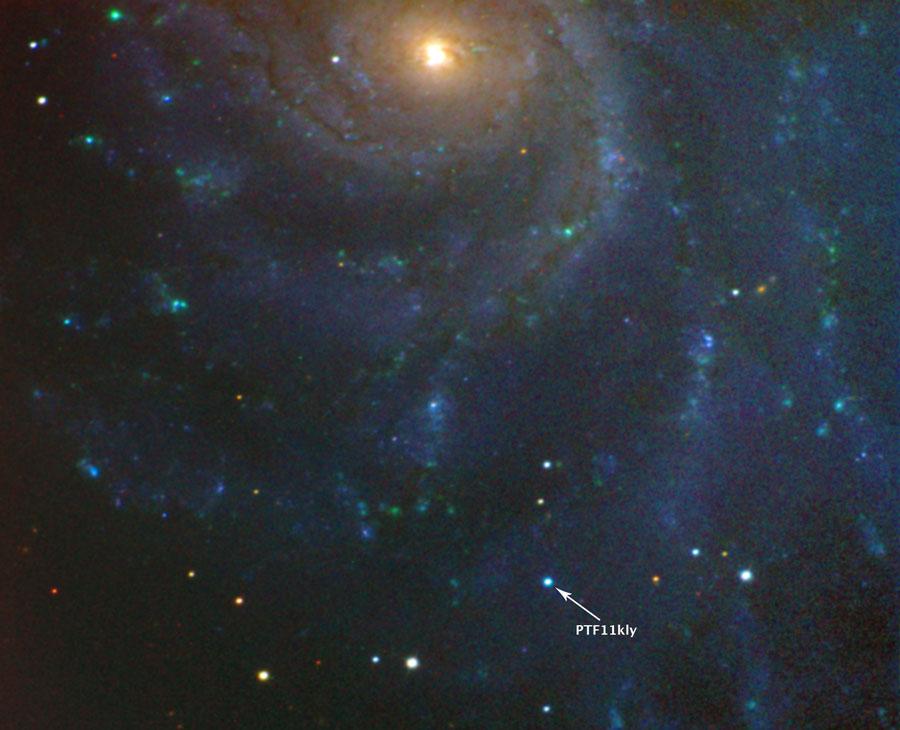 Une supernova dans la galaxie M101