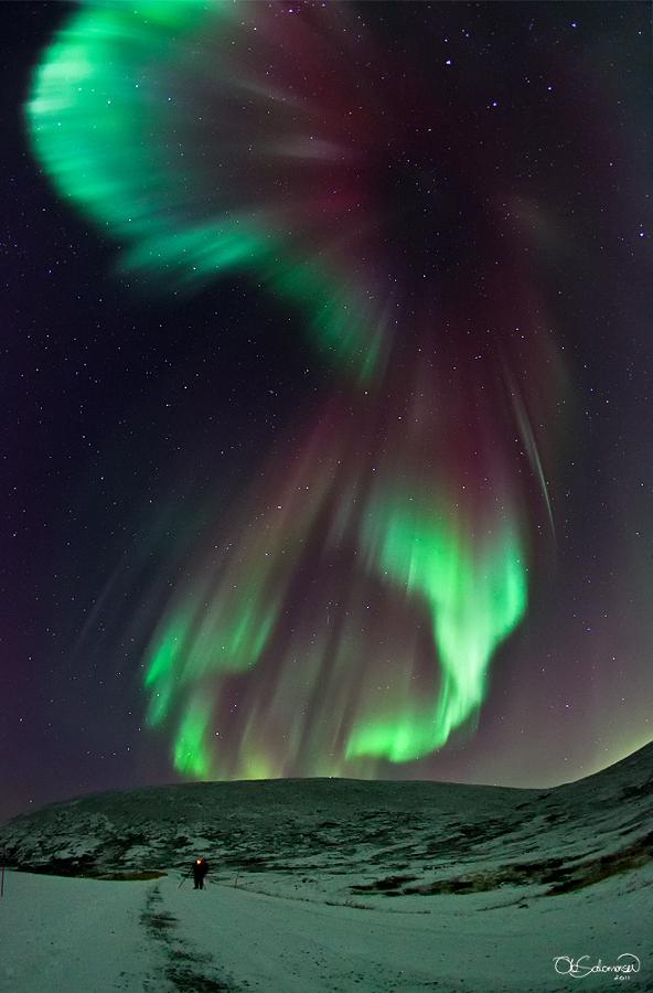 Une aurore mémorable sur la Norvège