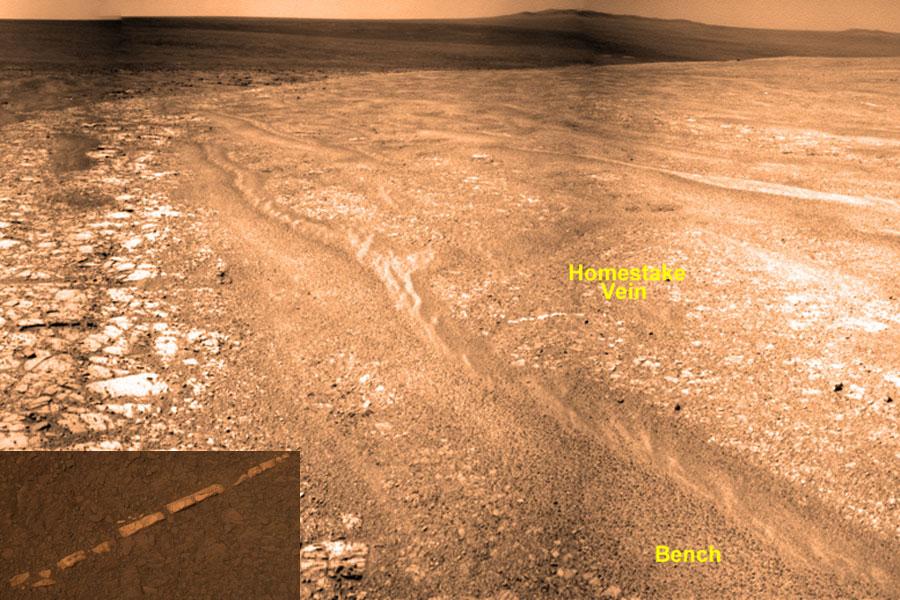 Une veine peu commune sur Mars