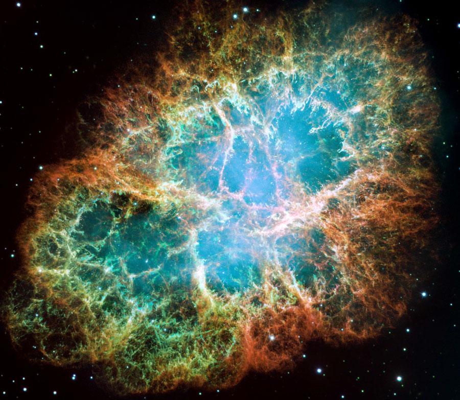 La nébuleuse du Crabe vue par Hubble