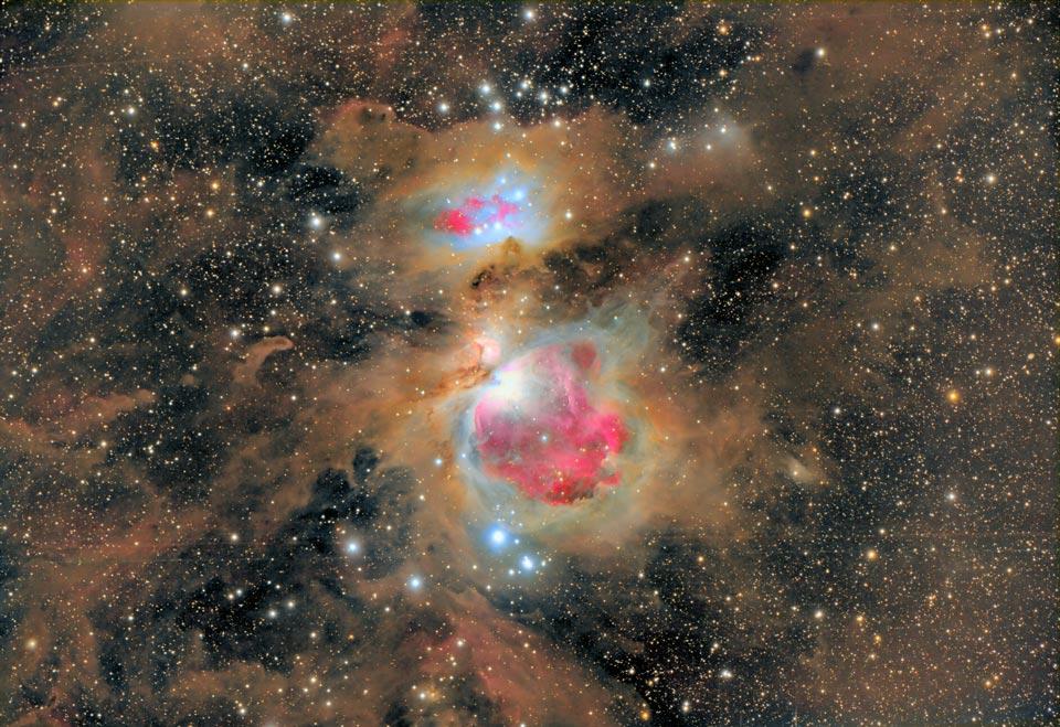 La poussière de la nébuleuse d\'Orion