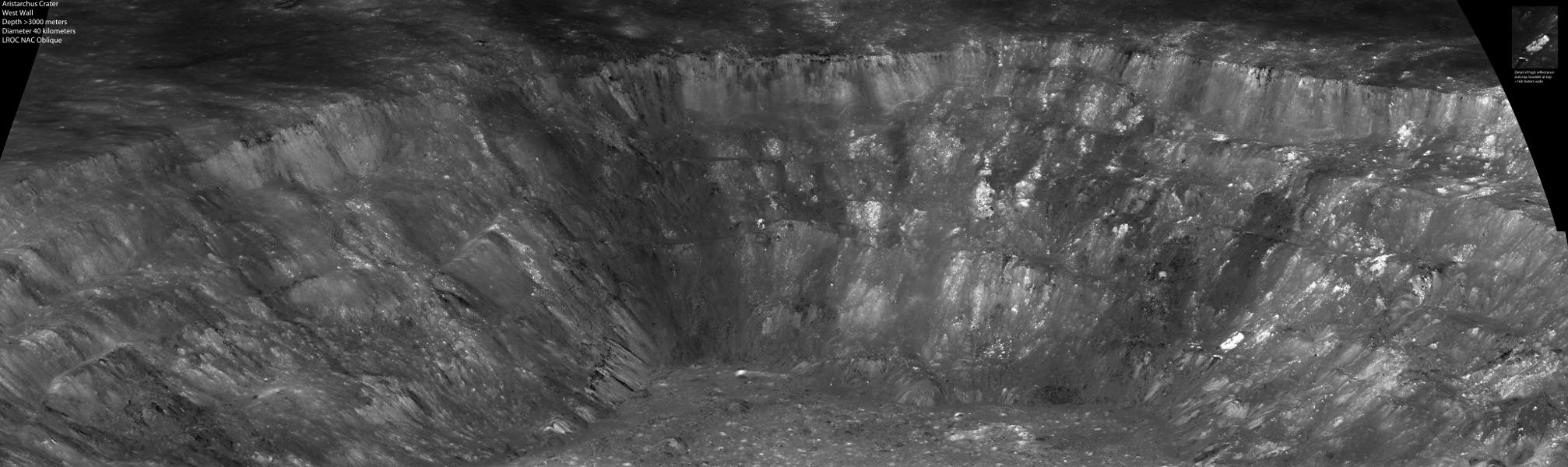 Le mur occidental du cratère Aristarque