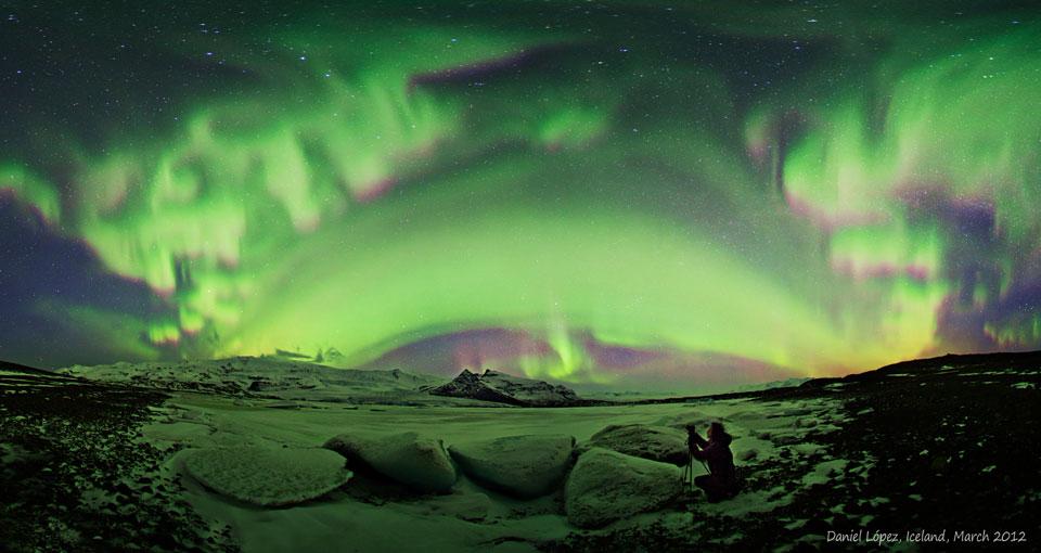 Aurores polaires sur l\'Islande