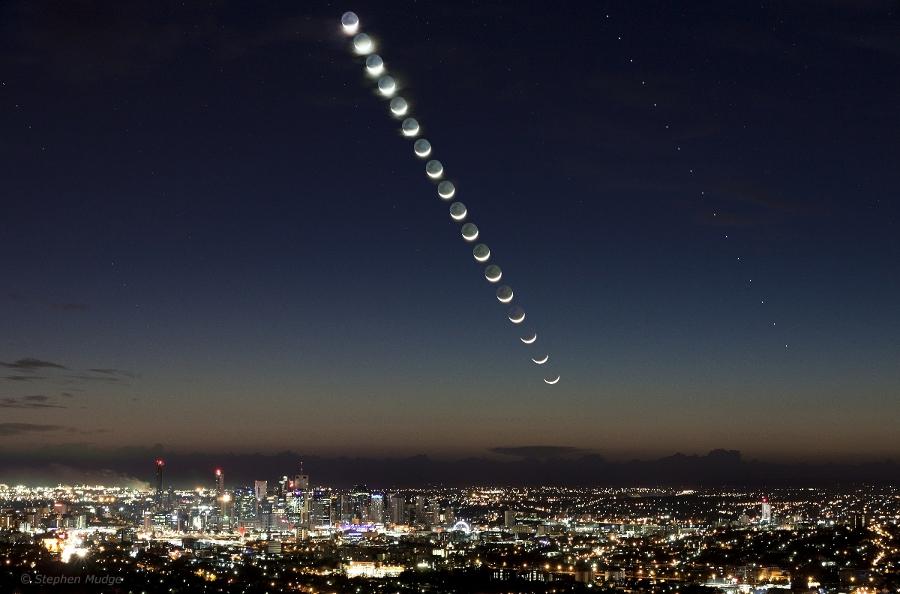 Mercure et la Lune au petit matin