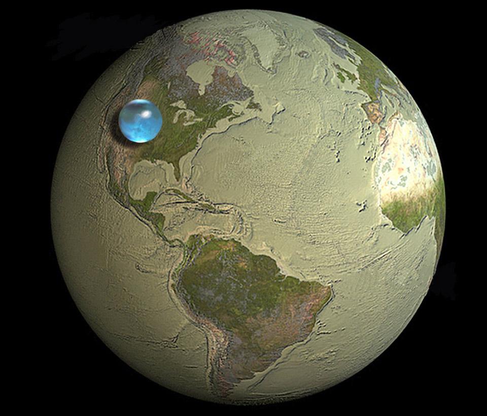 Toute l\'eau de la Terre