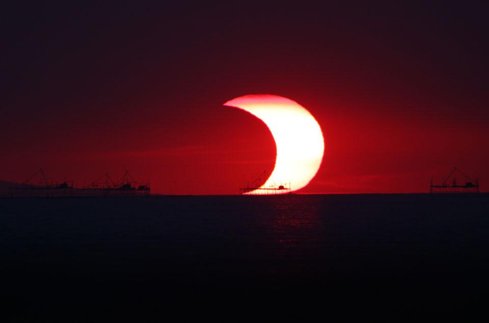 Eclipse partielle aujourd\'hui