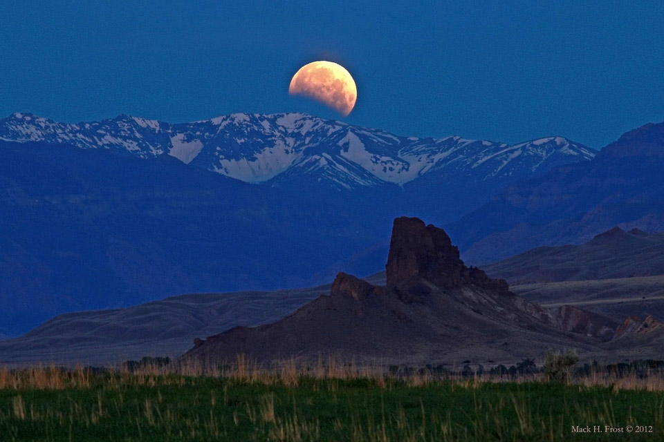 Eclipse de Lune sur le Wyoming