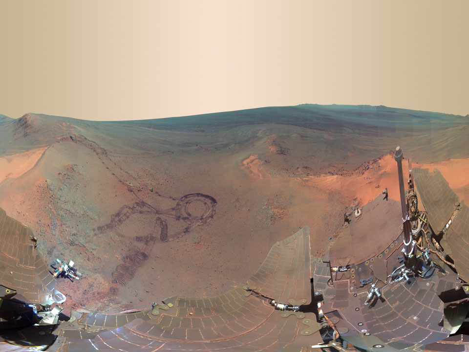 Panorama Greeley sur Mars