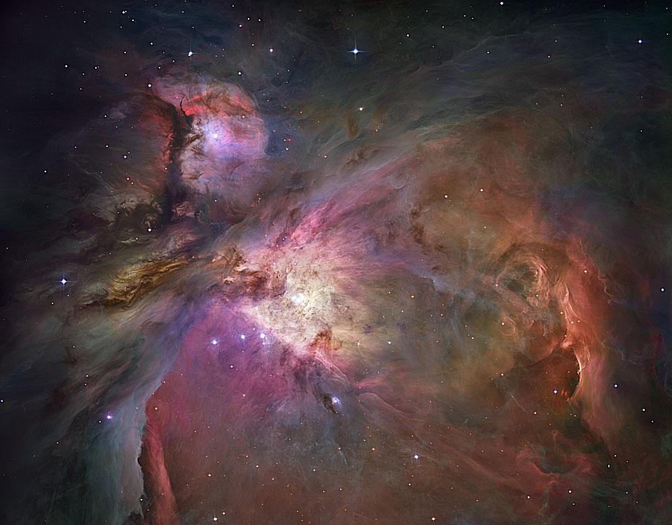 la nébuleuse d\'Orion vue de la Terre et du Ciel