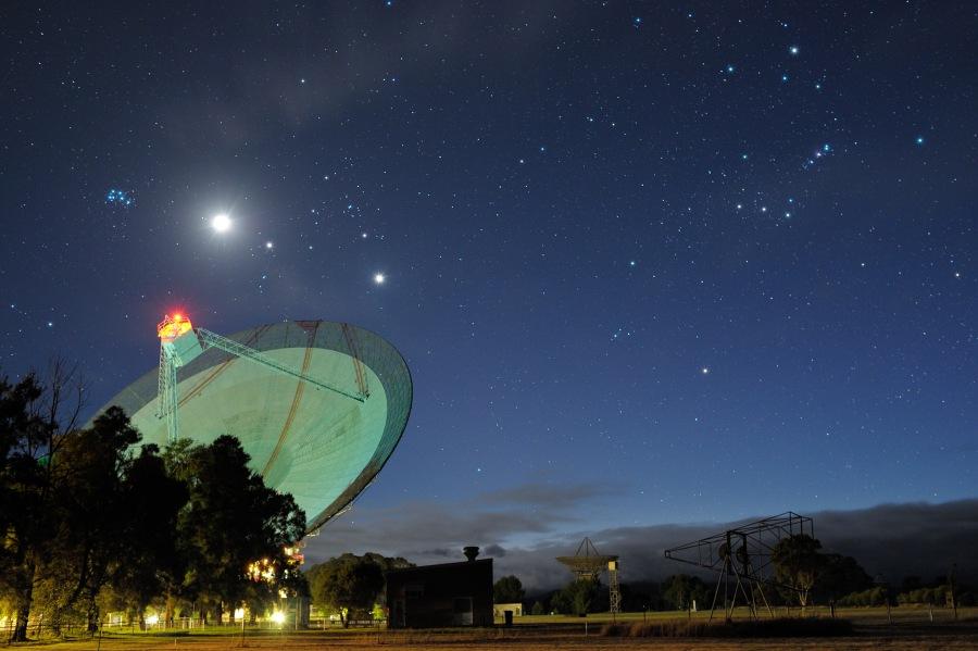 Antenne à l\'aube