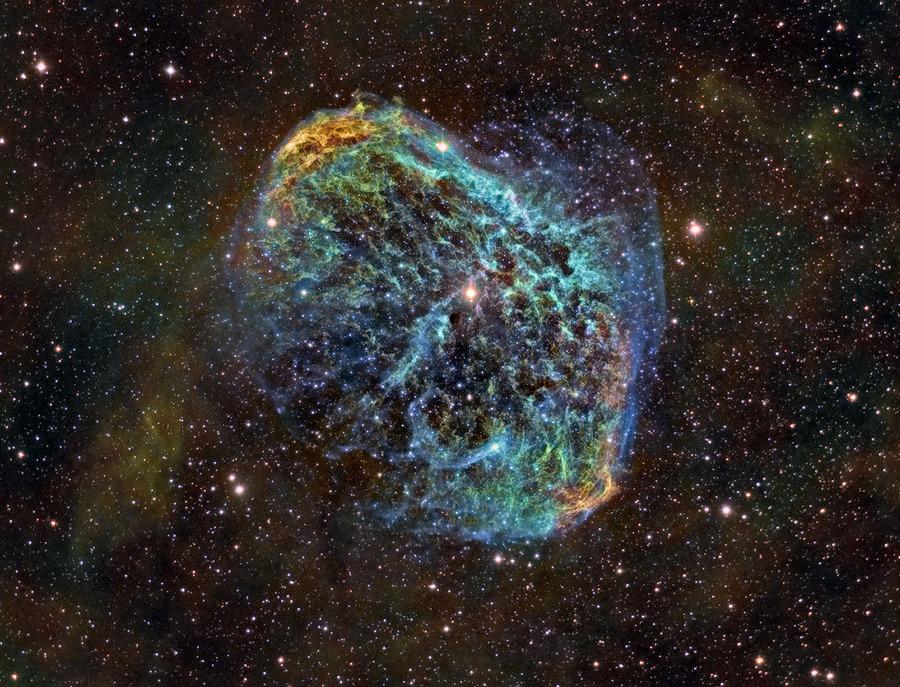 NGC 6888, nébuleuse du croissant