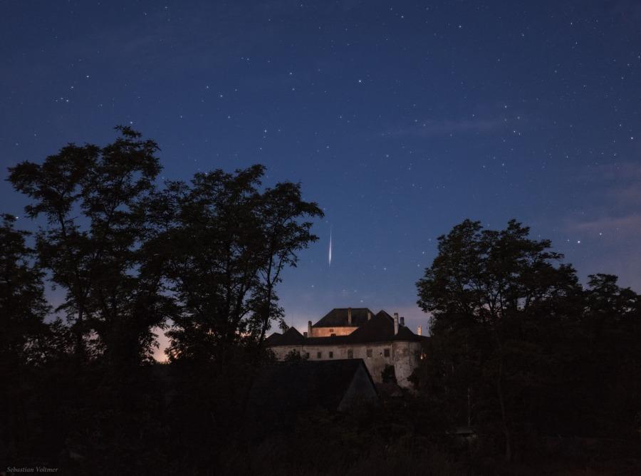 Perséide sur le Château d\'Albrechtsberg