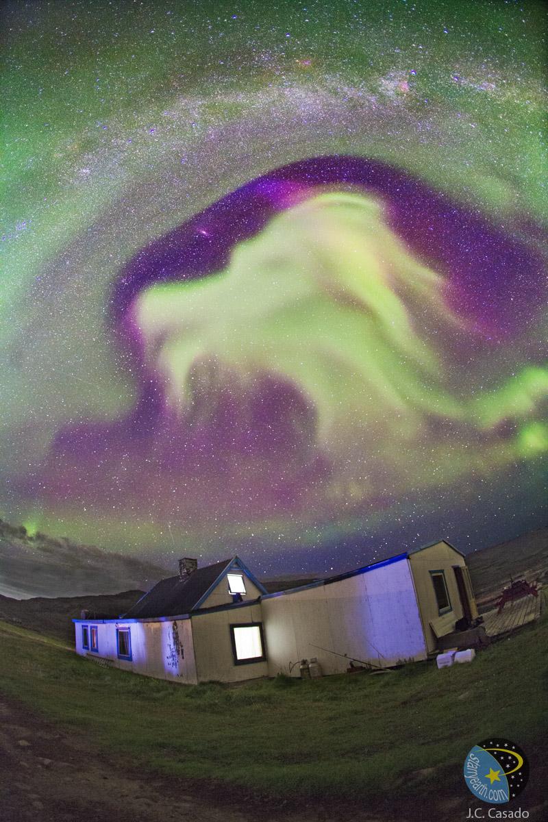 Aurore caprine au Groenland