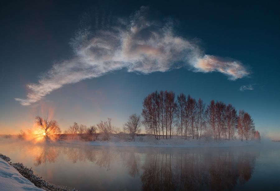 Lever de Soleil sur la rivière Miass