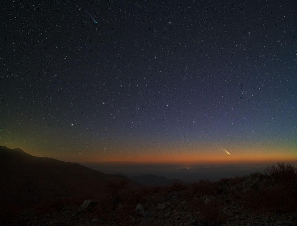 Deux comètes à l\'horizon