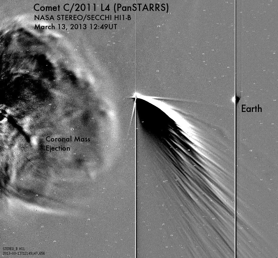 La comète et la Terre