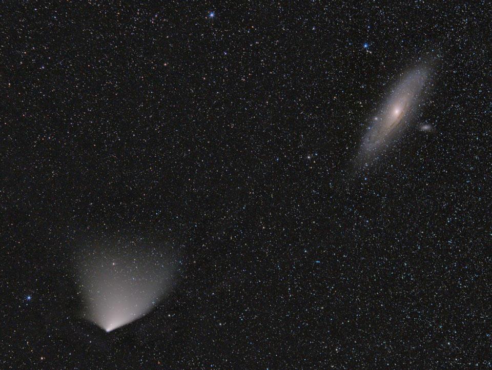 La comète et la galaxie