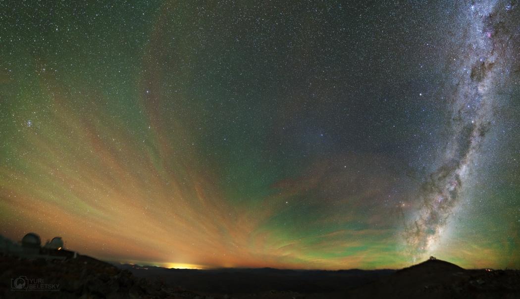 Luminescence du ciel nocturne, lueur anti solaire et Voie lactée