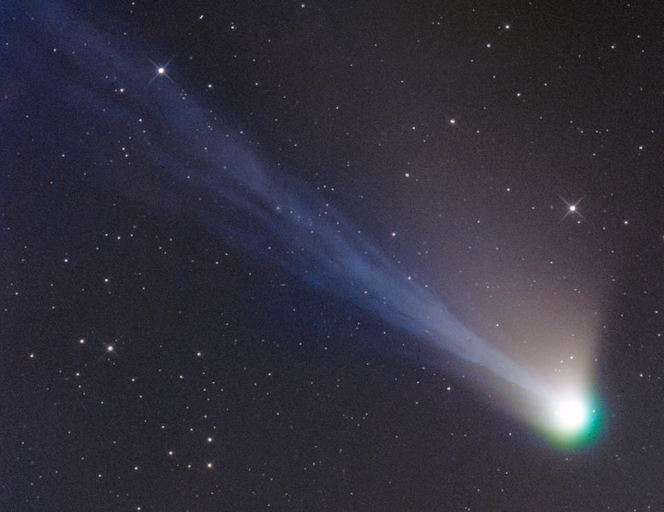 Les queues de la comète Lemmon