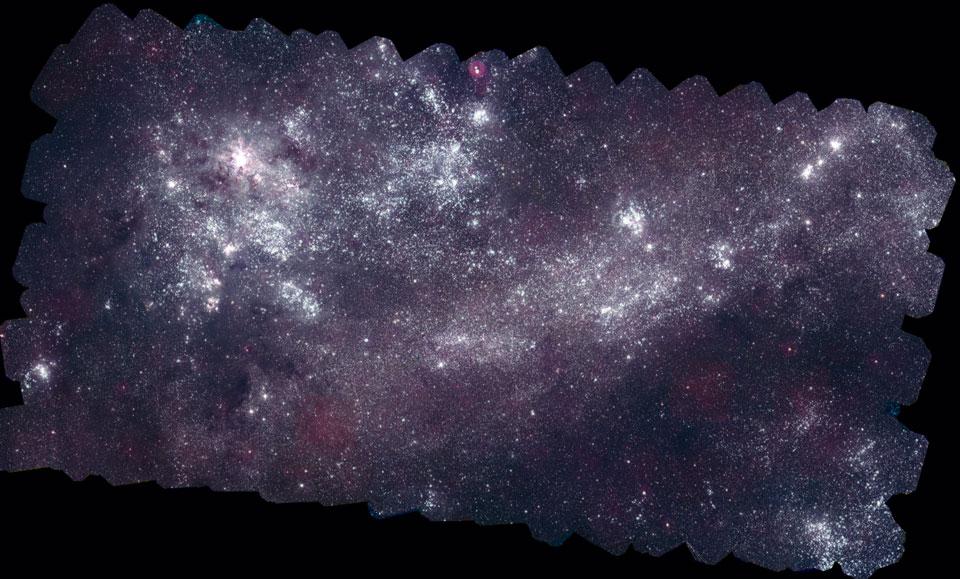 Le Grand Nuage de Magellan en ultraviolet