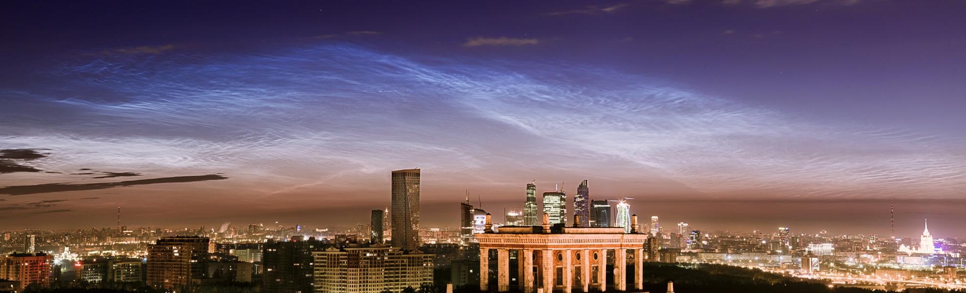 Nuages noctulescents sur Moscou