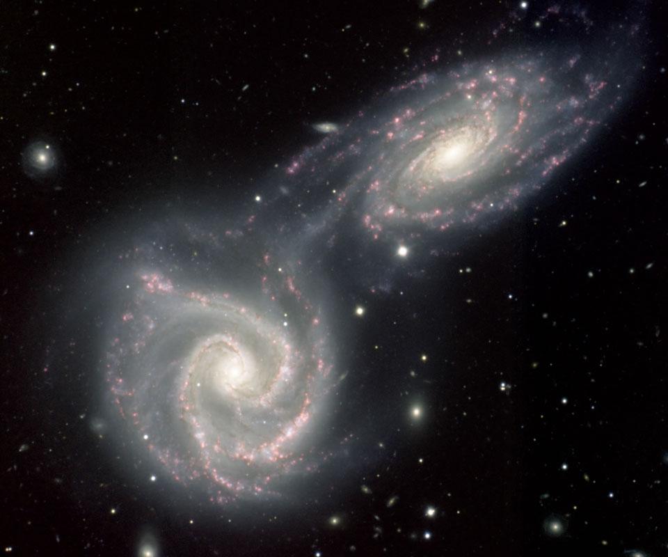 Galaxies en collision