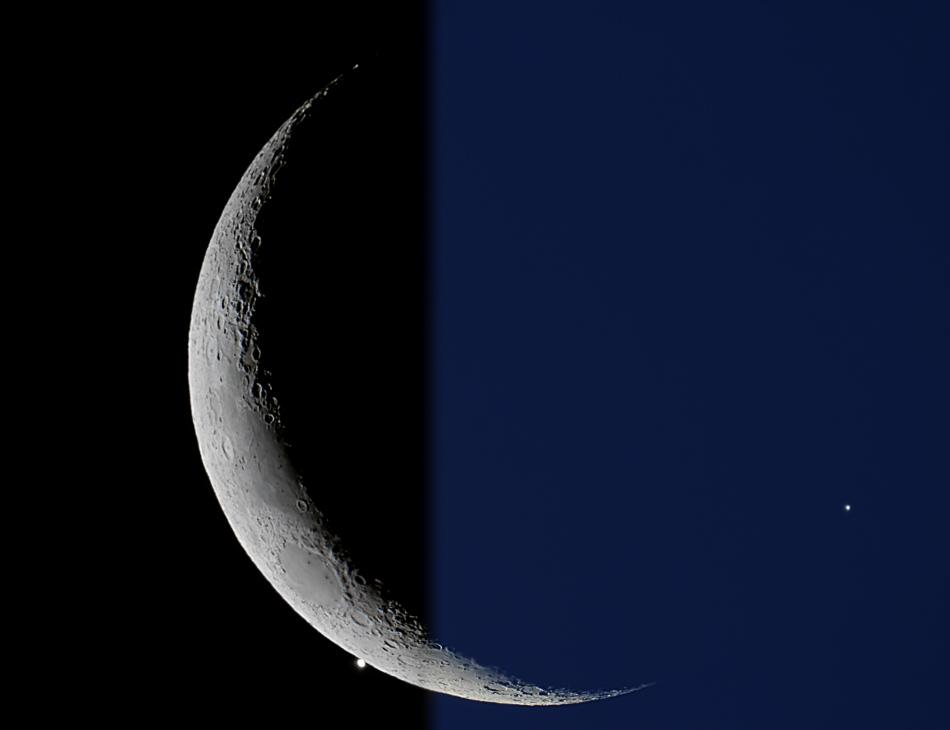 Vénus occultée par la Lune