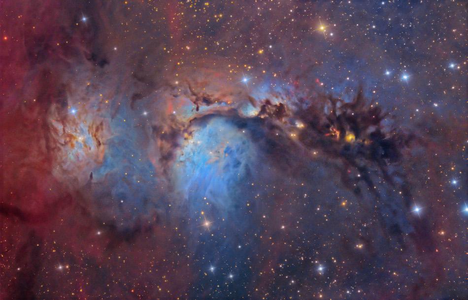 Lumière et poussières d\'étoiles dans M78