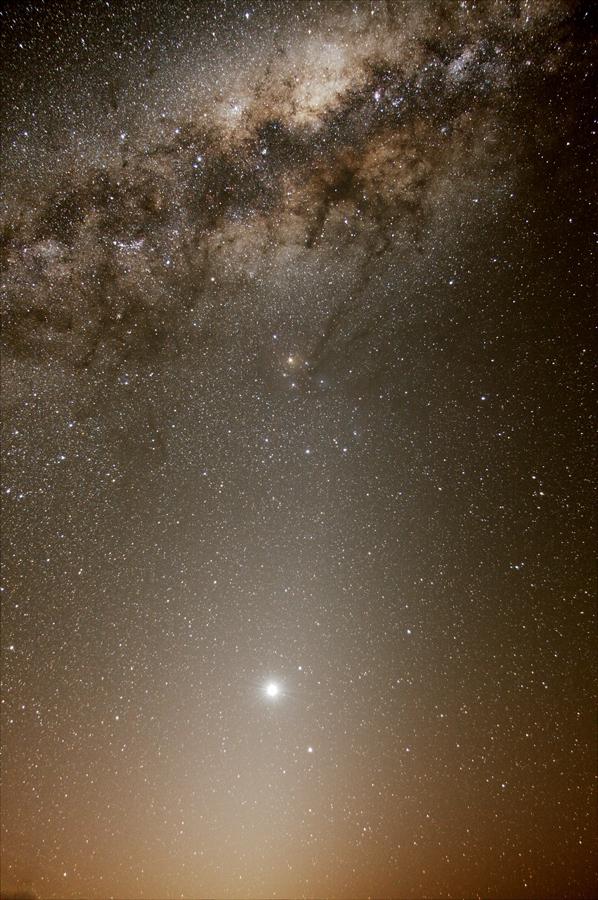 Vénus dans un triangle de lumière