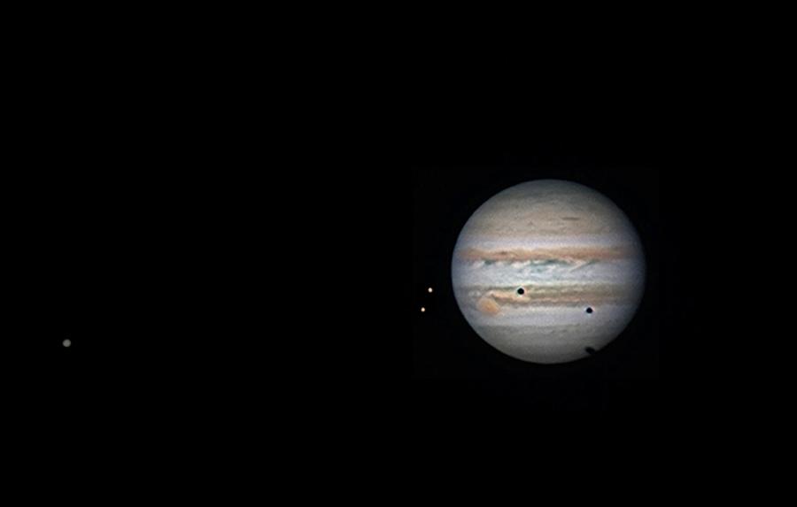 Triple transit sur Jupiter