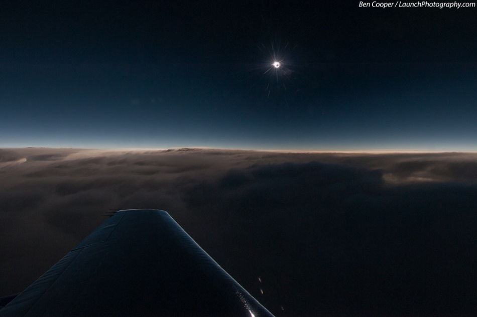 Eclipse dans les airs