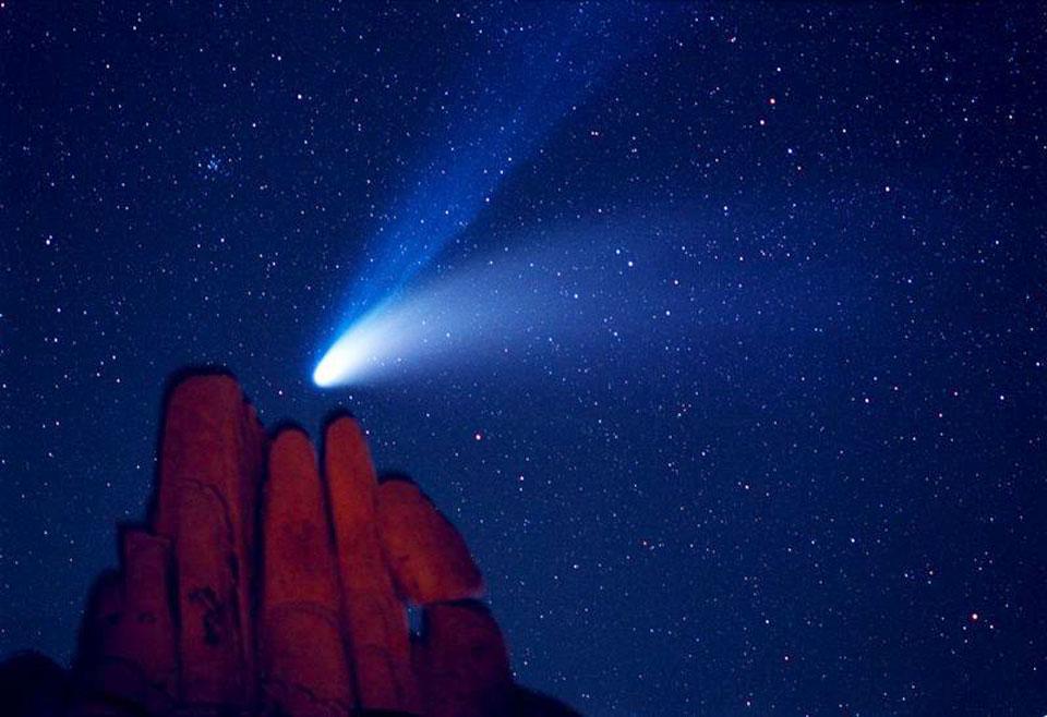 La comète Hale-Bopp au-dessus d\'Indian Cove