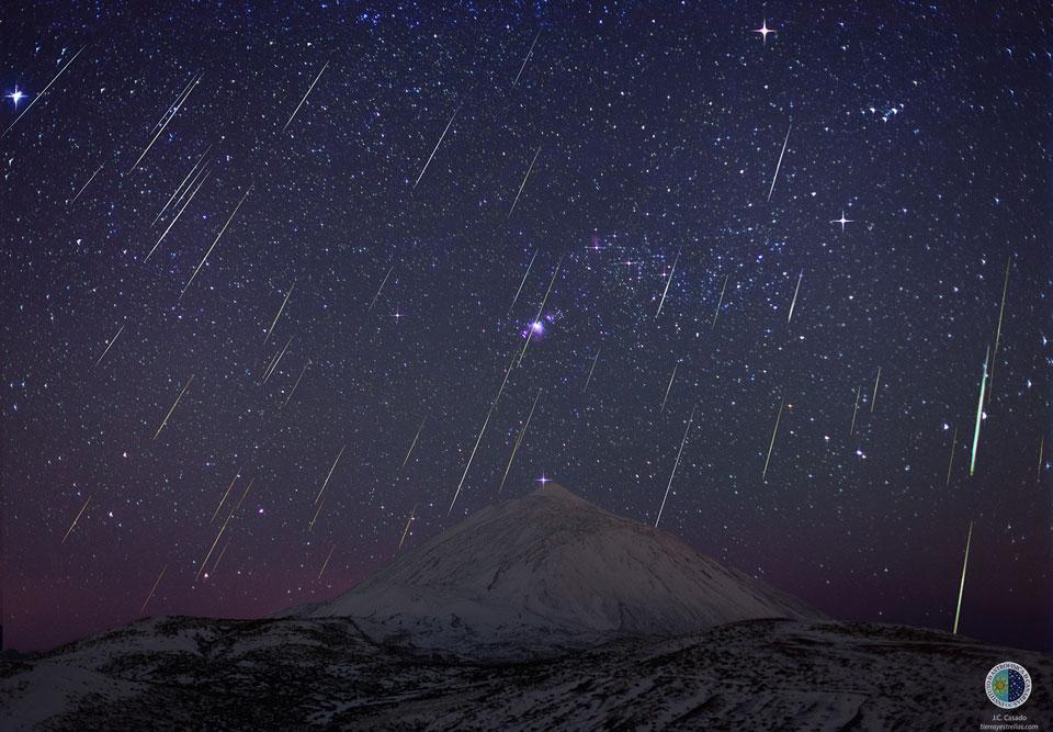 Géminides sur le Teide