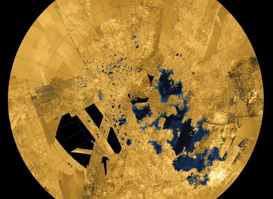 La carte des Grands Lacs de Titan