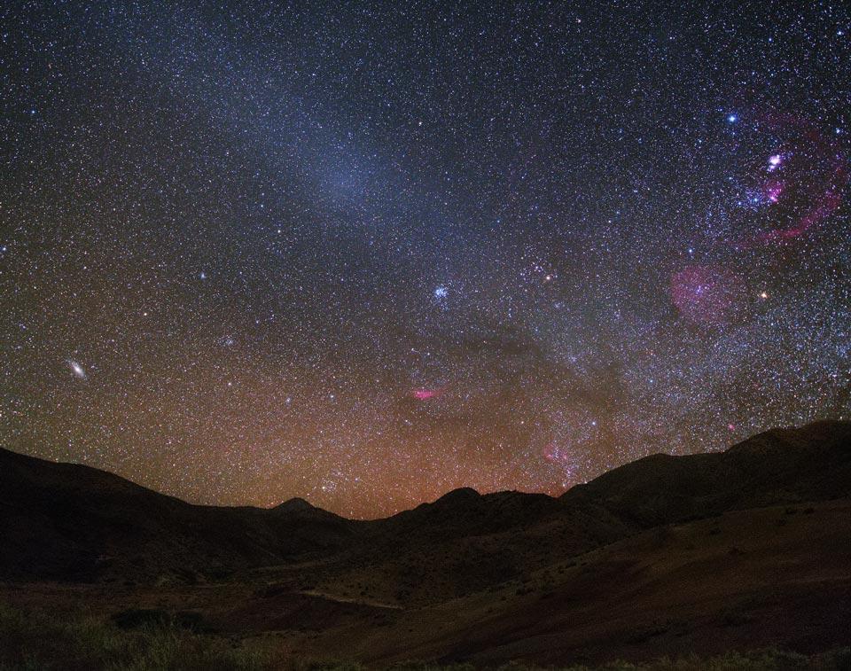 Gegenschein sur le Chili