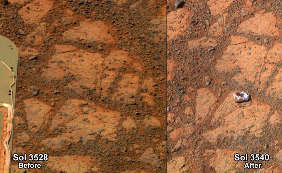Mystérieuse roche sur Mars