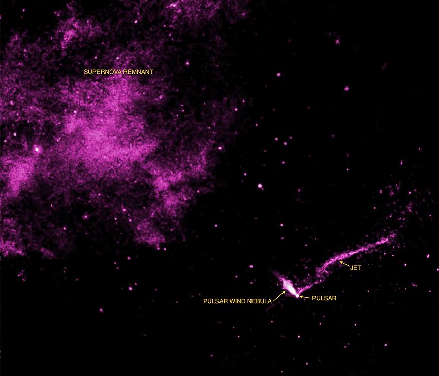 Le long jet de la nébuleuse du Phare