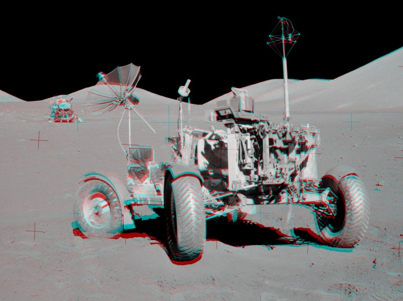 Le carré VIP d\'Apollo 17 en 3D