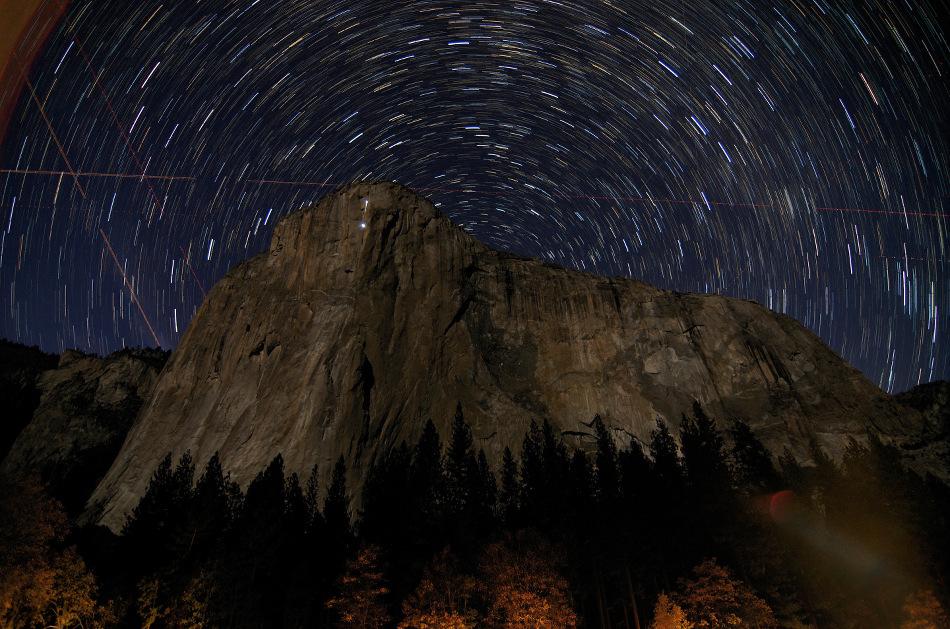 Filé d\'étoiles sur El Capitan