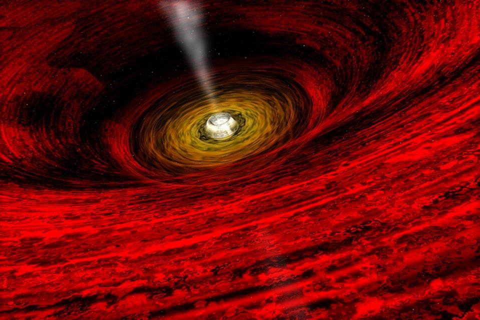 Au bord d\'un trou noir