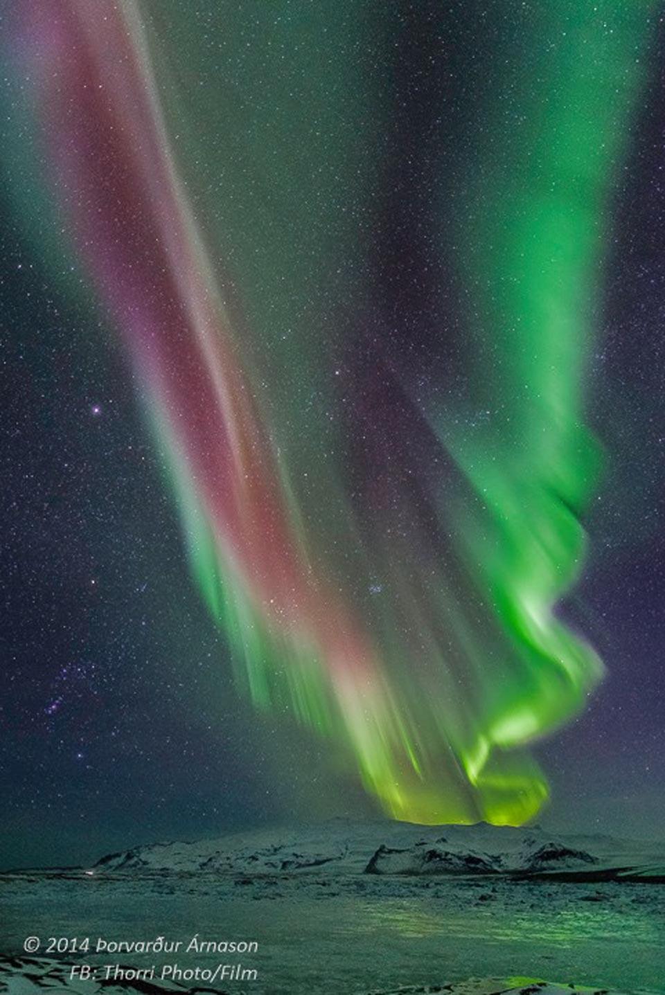 Aurore polaire sur l\'Islande