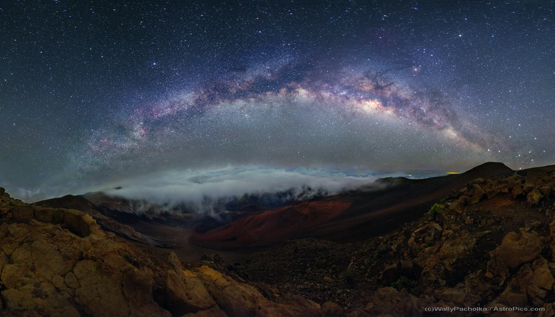Croix et nuages sur le Haleakala