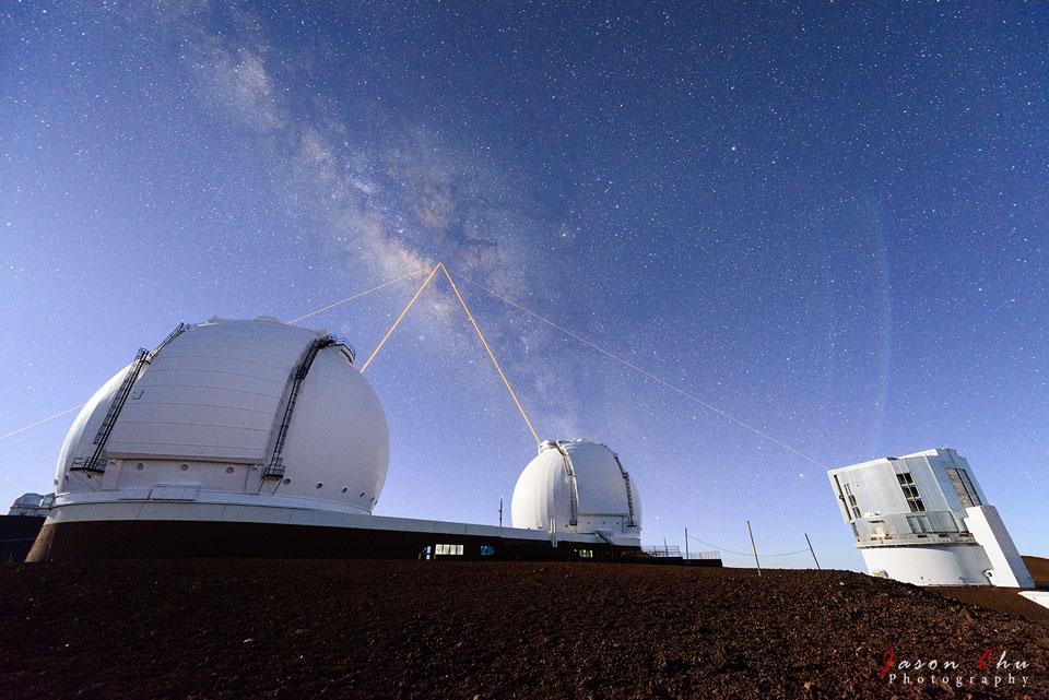 Tirs laser sur le Mauna Kea