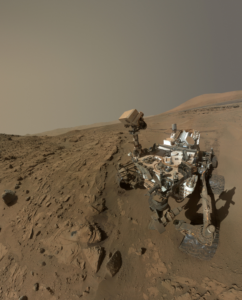 Selfie d\'anniversaire martien