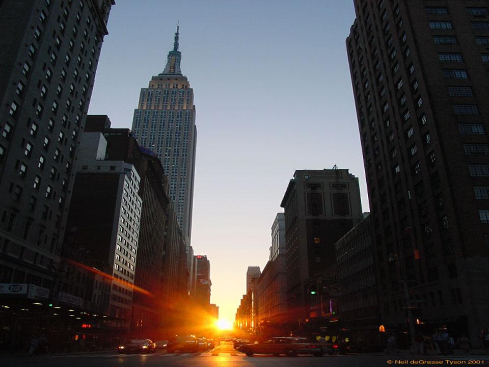 Manhattanhenge, un coucher de Soleil à New York