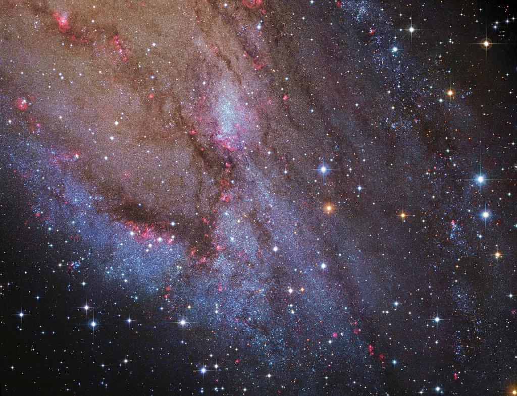 NGC 206 et les nuages d\'étoiles d\'Andromède