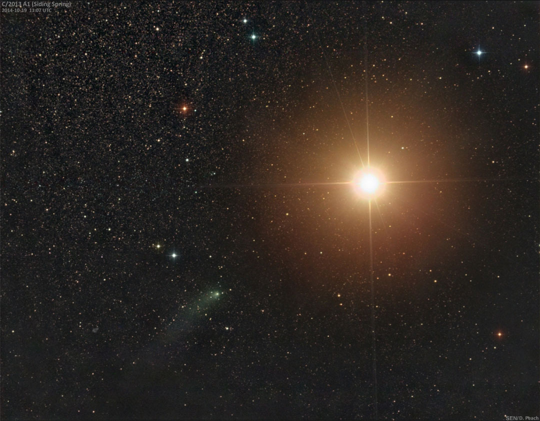 La comète Siding Spring frôle Mars