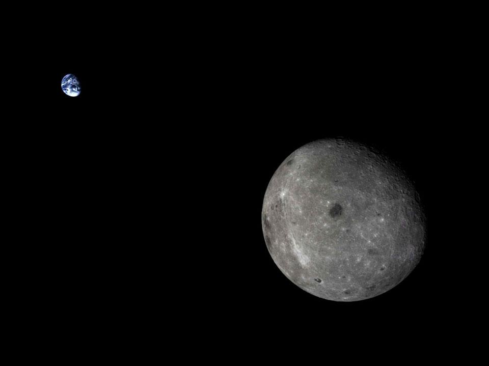 La Lune et la Terre vues par Chang\'e 5-T1