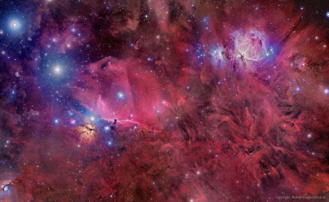 Orion en gaz, poussière et étoiles