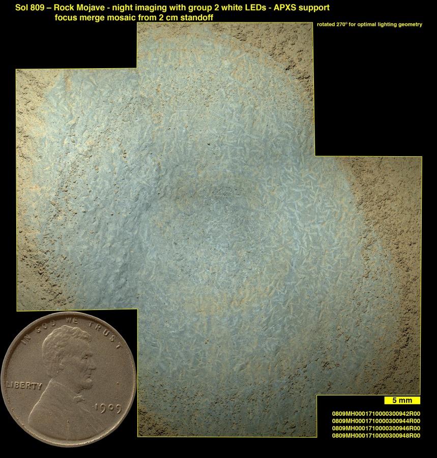 Cristaux sur Mars